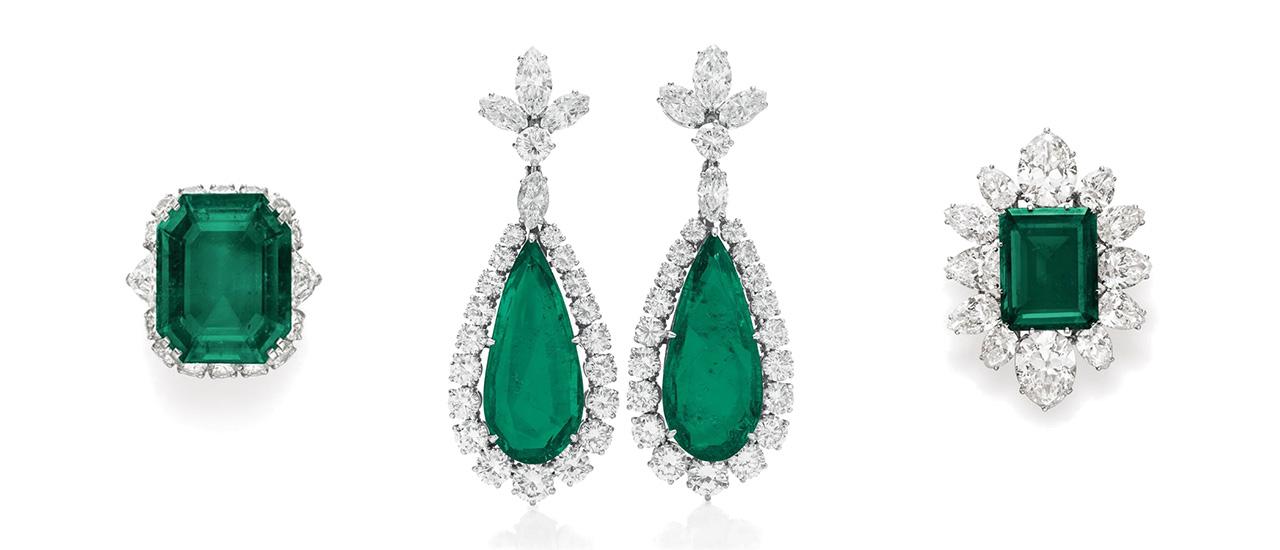 An-emerald-and-diamond-pendant-brooch,-by-Bulgari,-1958,-gift-from-Richard-Burton